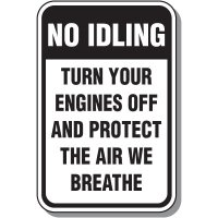 No Idling Signs - Protect The Air We Breathe