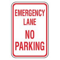 No Parking Signs - Emergency Lane No Parking