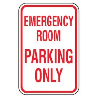 No Parking Signs - Emergency Room Parking Only