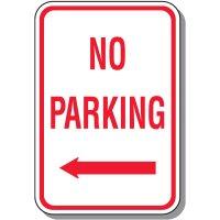 No Parking Signs - No Parking (Left Arrow)
