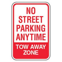 No Parking Signs - No Street Parking Anytime