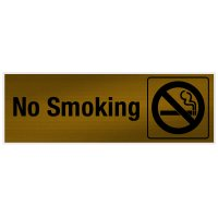 No Smoking - Engraved Graphic Room Signs