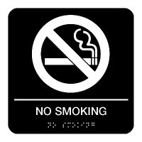 No Smoking - Graphic Braille Signs