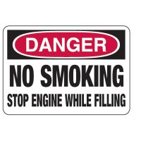 No Smoking Signs - Danger No Smoking