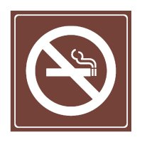 No Smoking Symbol - Engraved Graphic Symbol Signs