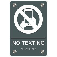 No Texting - Premium ADA Facility Signs