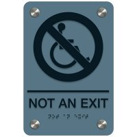 Not An Exit - Premium ADA Facility Signs