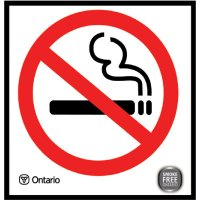 Smoke Free Ontario Act Sign