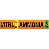 Opti-Code™ Ammonia Pipe Markers - Medium Temperature Recirculated Liquid
