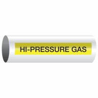Opti-Code™ Self-Adhesive Pipe Markers - Hi-Pressure Gas