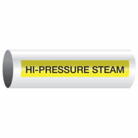 Opti-Code™ Self-Adhesive Pipe Markers - Hi-Pressure Steam
