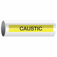 Opti-Code™ Self-Adhesive Pipe Markers - Caustic