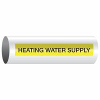 Opti-Code™ Self-Adhesive Pipe Markers - Heating Water Supply
