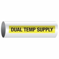 Opti-Code™ Self-Adhesive Pipe Markers - Dual Temp Supply