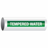 Opti-Code™ Self-Adhesive Pipe Markers - Tempered Water