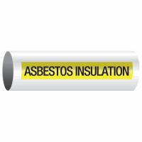 Opti-Code™ Self-Adhesive Pipe Markers - Asbestos Insulation