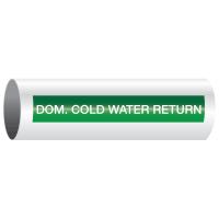 Opti-Code™ Self-Adhesive Pipe Markers - Domestic Cold Water Return