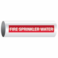 Opti-Code™ Self-Adhesive Pipe Markers - Fire Sprinkler Water