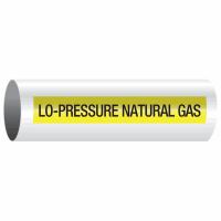 Opti-Code™ Self-Adhesive Pipe Markers - Lo-Pressure Natural Gas
