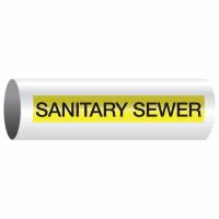 Opti-Code™ Self-Adhesive Pipe Markers - Sanitary Sewer