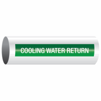 Opti-Code™ Self-Adhesive Pipe Markers - Cooling Water Return