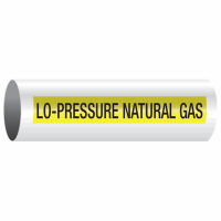 Opti-Code™ Self-Adhesive Pipe Markers - Lo-Pressure Natural Gas