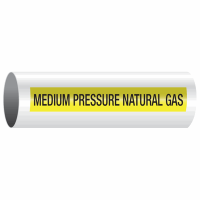 Opti-Code™ Self-Adhesive Pipe Markers - Medium Pressure Natural Gas