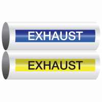 Opti-Code™ Self-Adhesive Pipe Markers - Exhaust