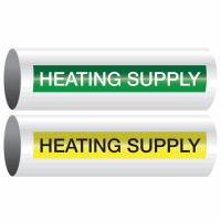 Opti-Code™ Self-Adhesive Pipe Markers - Heating Supply