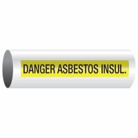 Opti-Code™ Self-Adhesive Pipe Markers - Danger Asbestos Insulation