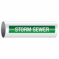 Opti-Code™ Self-Adhesive Pipe Markers - Storm Sewer