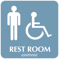 Optima ADA Men Handicapped Access Restroom Signs