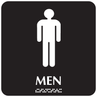 Optima ADA Men Restroom Signs
