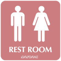 Optima ADA Unisex Restroom Signs