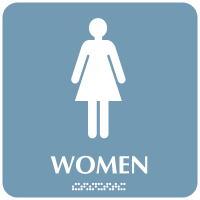 Optima ADA Women Restroom Signs