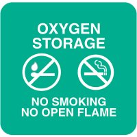 Optima Wall Mount Signs - Oxygen Storage No Smoking