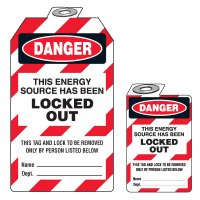 Padlock Lockout Tags - Danger This Energy Source Has Been Locked Out