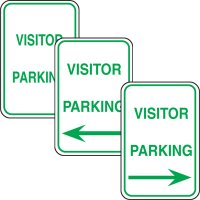 Parking Enforcement Signs - Visitor Parking (With Left/Right Arrow)