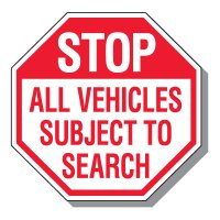 Parking Lot Security & Safety Signs - Stop