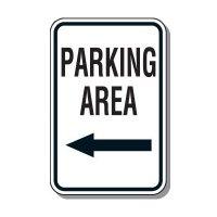 Directional Parking Signs - Parking Area (Left Arrow)