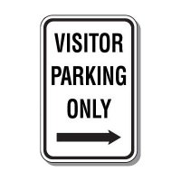 Visitor Parking Signs - Visitor Parking Only (Right Arrow)