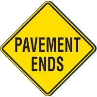 Reflective Traffic Signs - Pavement Ends