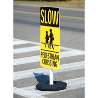 Slow Pedestrian Crossing Flexible Sign System