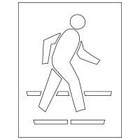 Pavement Tool Plastic Graphic Stencils - Pedestrian Symbol S-5035 D