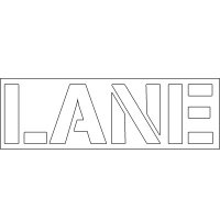 Plastic Word Stencils - Lane