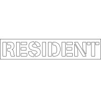 Plastic Word Stencils -Resident