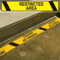 Printed Warning Tapes - Restricted Area