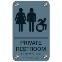 Private Restroom (Dynamic Accessibility) - Premium ADA Restroom Signs