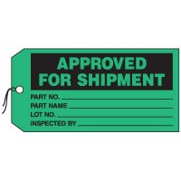 Production Control Tags - Approved For Shipment