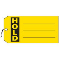 Production Control Tags - Hold